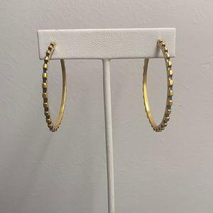 NEW Julie Vos Hoop Earrings - Gold, Black